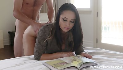 Hot busty Russian cowgirl Crystal Rush is fucked missionary style