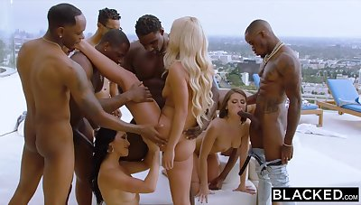 Teanna Trump, Adriana Chechik, And Vicki Chase In A Fat BLACK DICK GANGBANG BY Put emphasize Come together