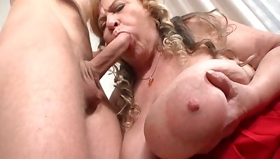 Granny Darla's Massive Juggs Get Pounded  - young cutie