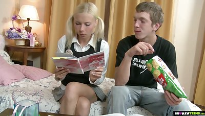 Russian teen Ekaterina allows take penetrate anal space after a rimjob session