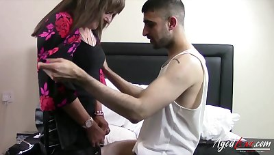 Sex-starved German widow Pandora is fucked by young Turkish man