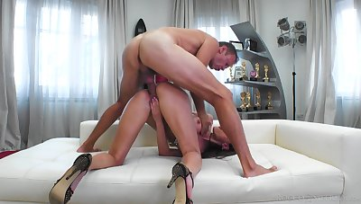 Juggy Russian streetwalker Kitana Lure is fucked anally by horny Italian man of the hour Rocco