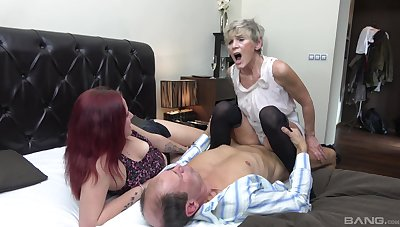 Fruity shares dick up younger nice around a home trio