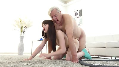 Excellent sex scenes with grandpa and the sleazy young niece