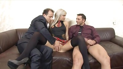 Huband shares his horseshit itchy blonde wife Liana with his boss