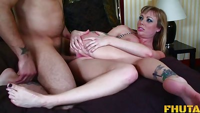 MILF wed Adrianna Nicole loves to abominate rough mouth and ass fucked
