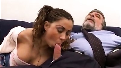 Elderly guy young guy and old mom fuck young