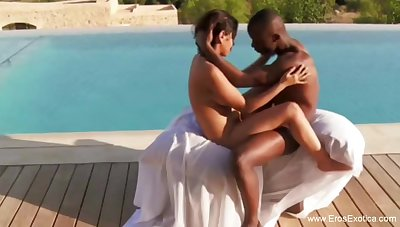 Ebony Couple Flock Love Outdoors To Have Some Fun